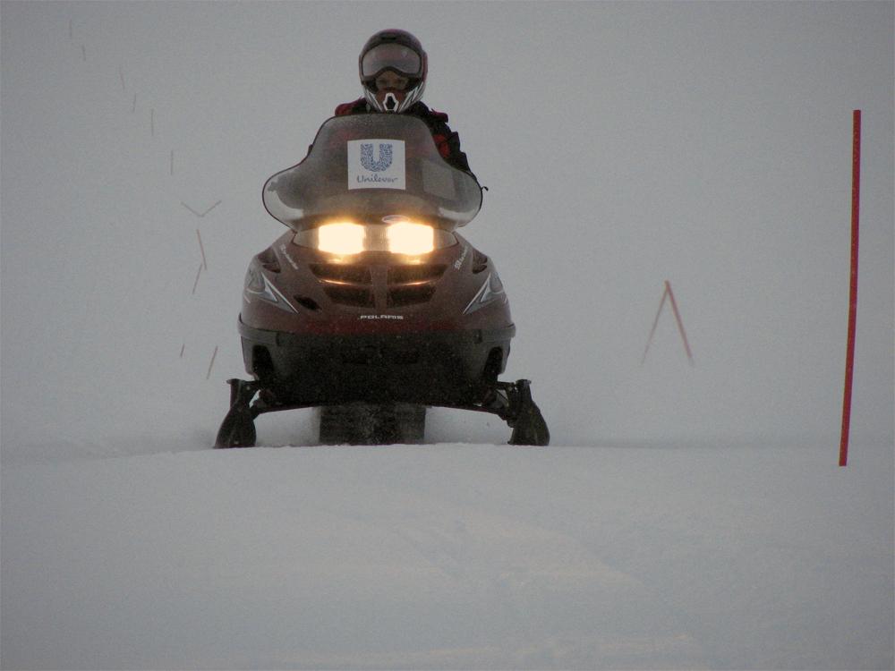 Finnmark Mehamn Snøscooter 0703 Snøføyk