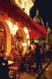 På tur i nattens Paris - Restaurant