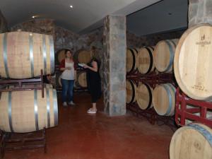 Litt av vinkjelleren fra Quintas dos Vales.