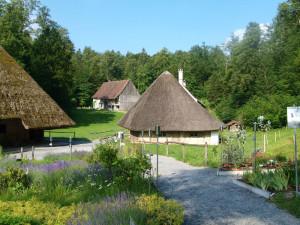 Et av de spesielle boligene i Ballenberg, Sveits.