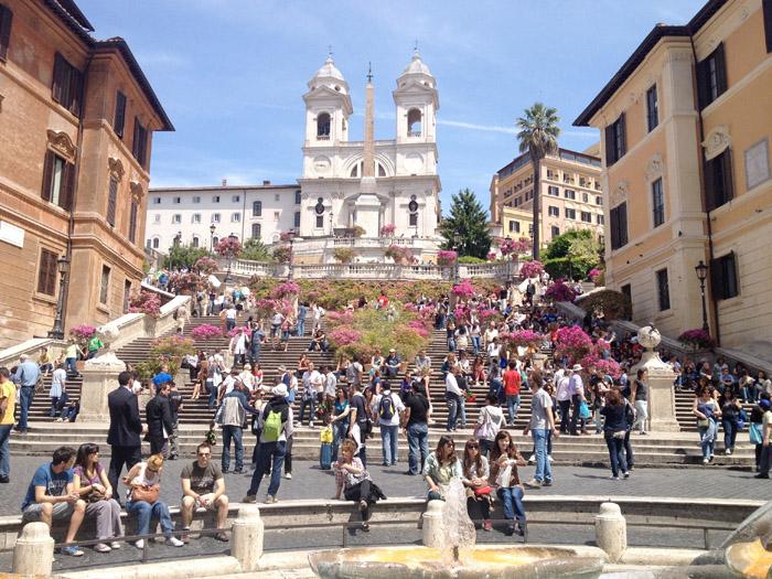 Spansketrappen er et av de mest fotograferte stedene i Roma.