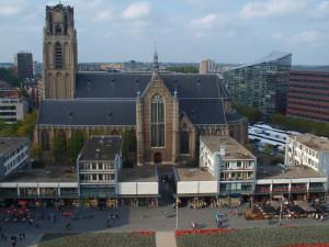 Utsikt fra en av leilighetene på toppen i Markthal. Foto: Yvette-Marie Solem