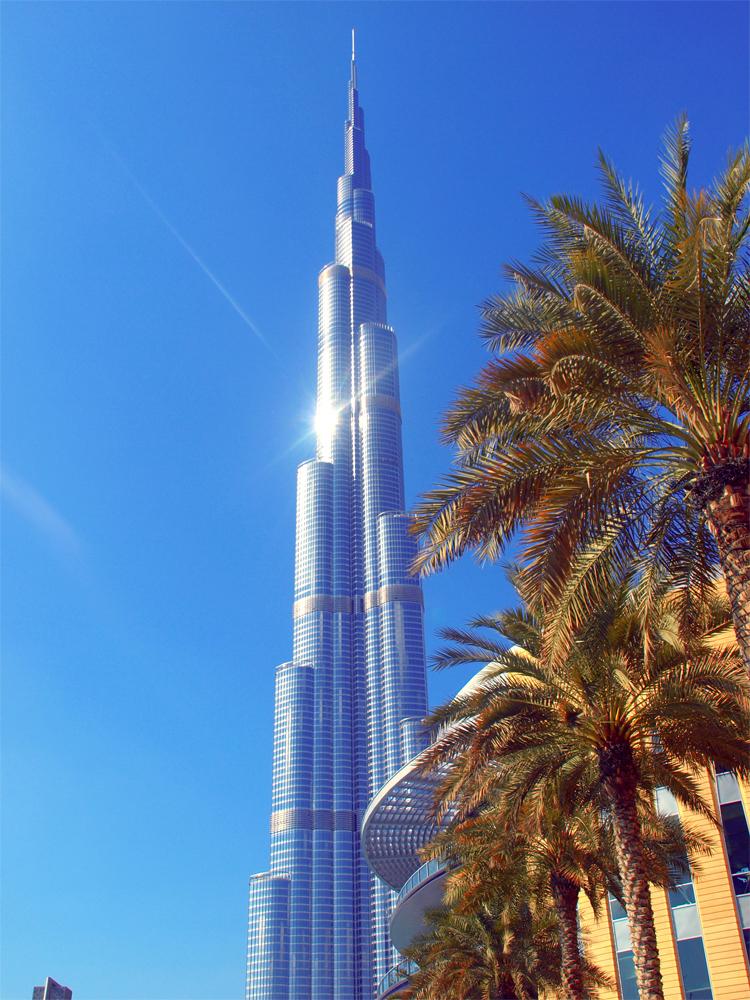 Durj Khalifa 828 meter høy utenfor Dubai Mall. Foto: Yvette-Marie Solem