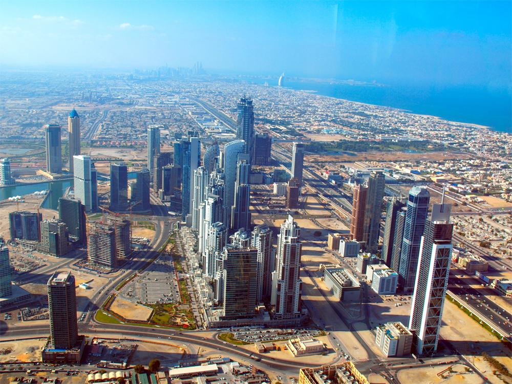 Panoramautsiskt Dubai
