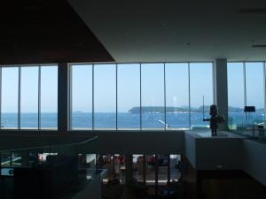 Vakker utsikt fra resepsjonsområdet på Valamar President Hotel. Foto: Cristina Maria Solem