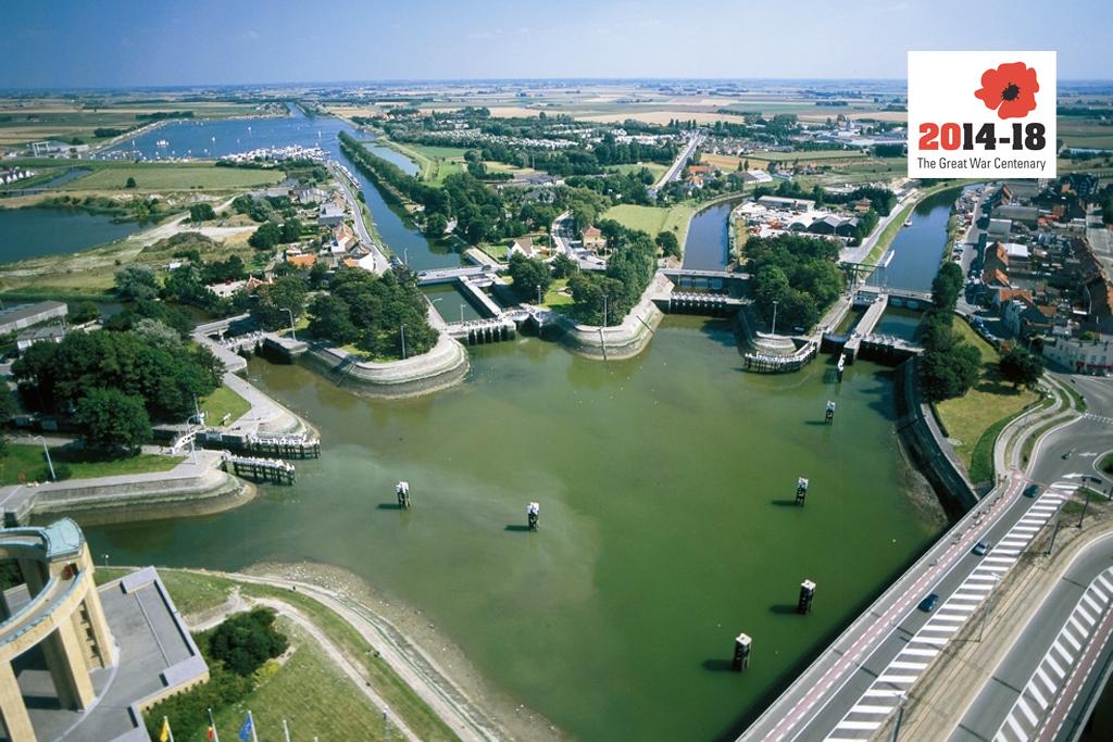 Nieuwepoort i Flandern, ut mot Den engelske kanal.