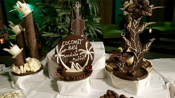 Teksten på sjokoladen forteller vel alt. Eia, var vi der!