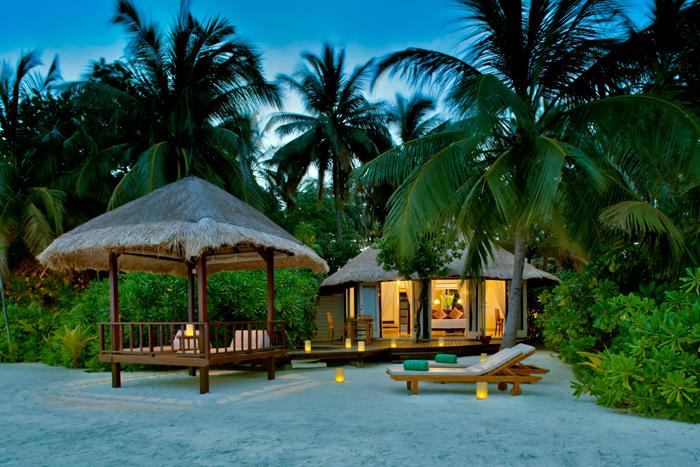 Et av Banyan Trees hoteller på Maldivene.