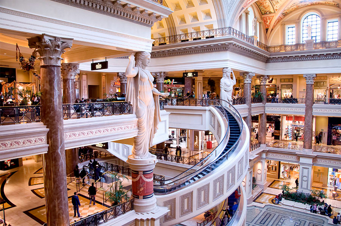 Interiøret i Hotel Ceasar Palace i Las Vegas.