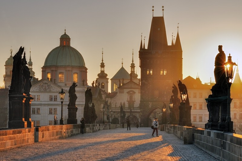 Praha: Lekre tårn i gamlebyen. Foto: Dagmar Veselkova