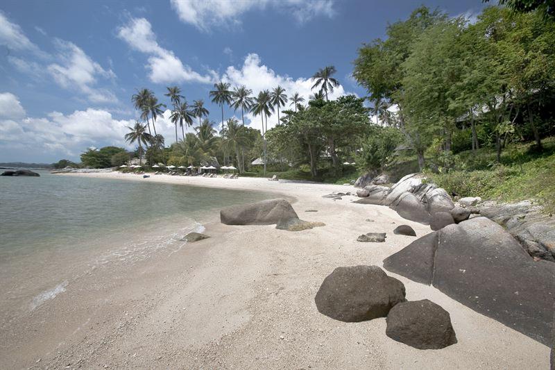 Kamlaya Beach på Koh Samui i Thailand.