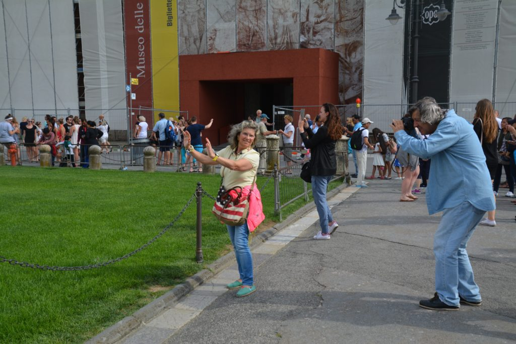 Pisa: Tai Chi poseringer er de mest vanlige. Foto: Yvette-Marie Solem