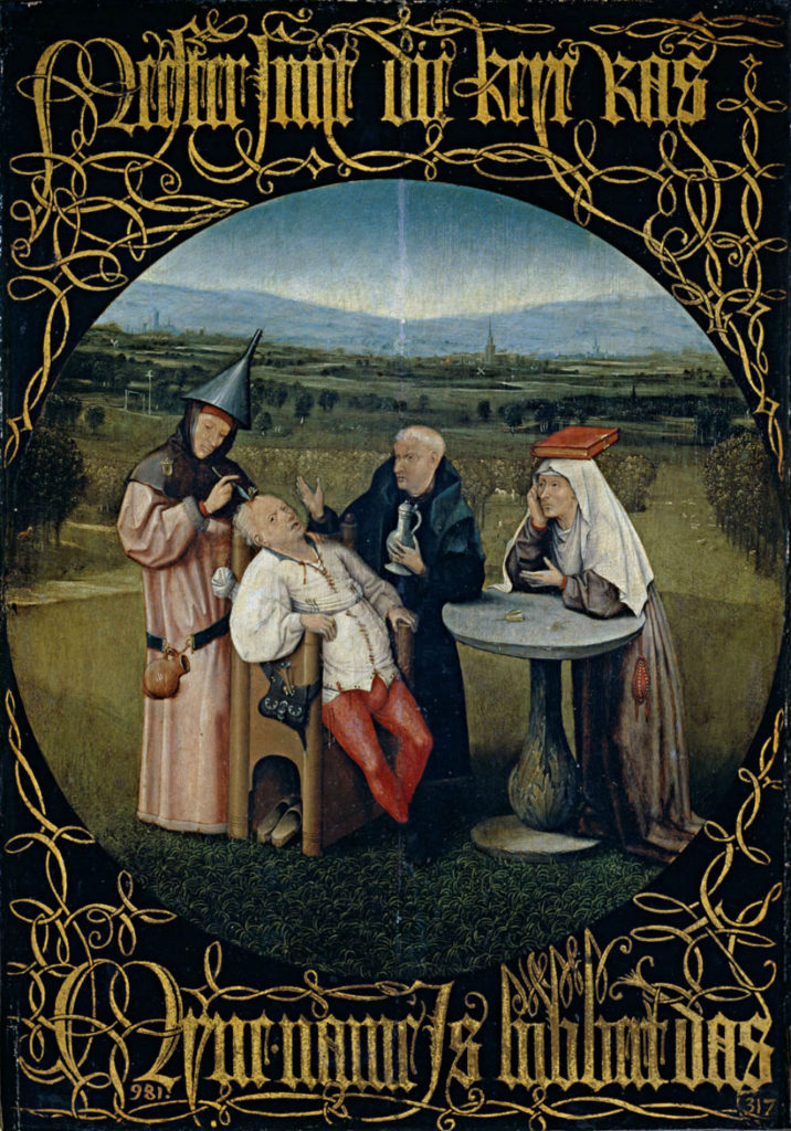 Bosch: Tittel Steinoperasjonen - fra 1480.