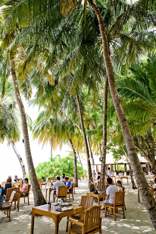 Fra hotellet Banyan Tree på Maldivene.