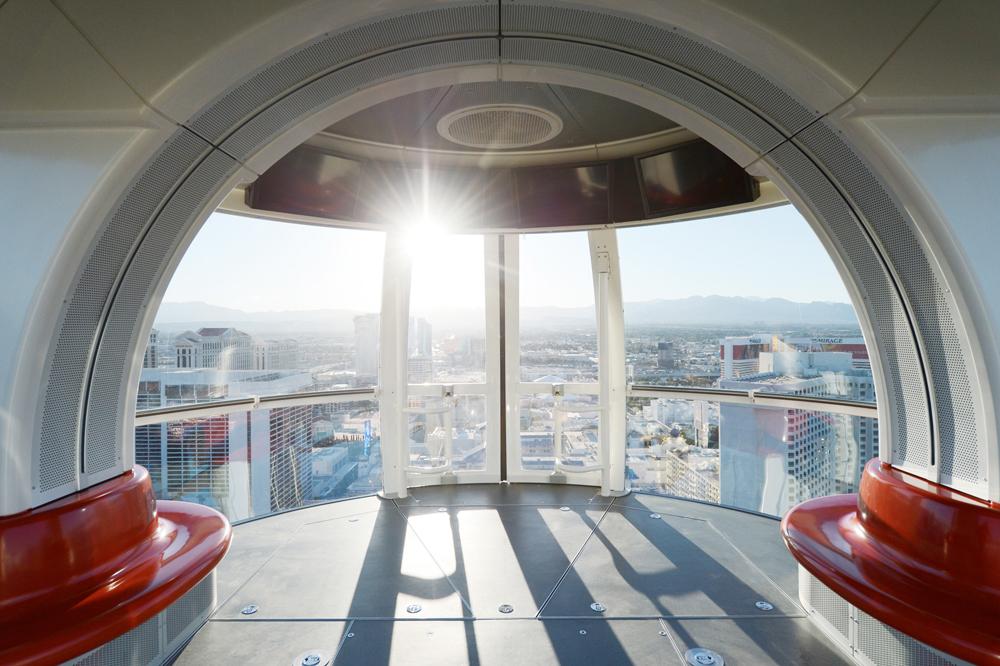 God utsikt over Las Vegas fra pariserhjulet.