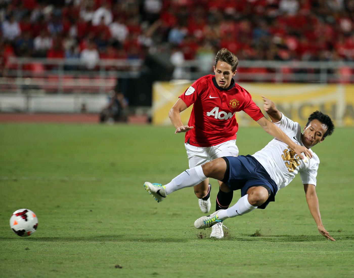Adnan Januzaj fra Manchester United i rød drakt.