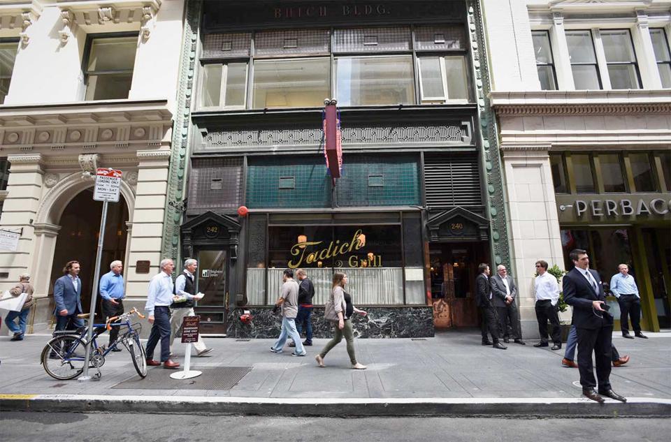 Tadich Grill fra 1848. Stedet begynte som en kaffebar under gullrushet i 1848.