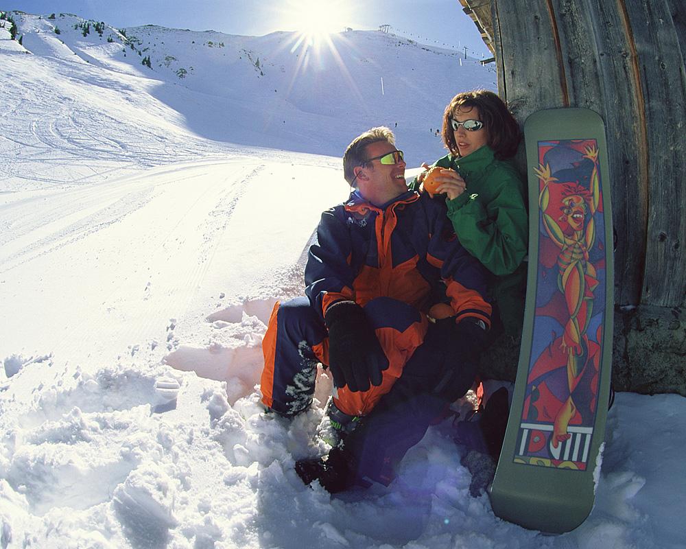 Litt romantikk rundt hjørnet, mellom all skiaktivitet og før sola går ned.