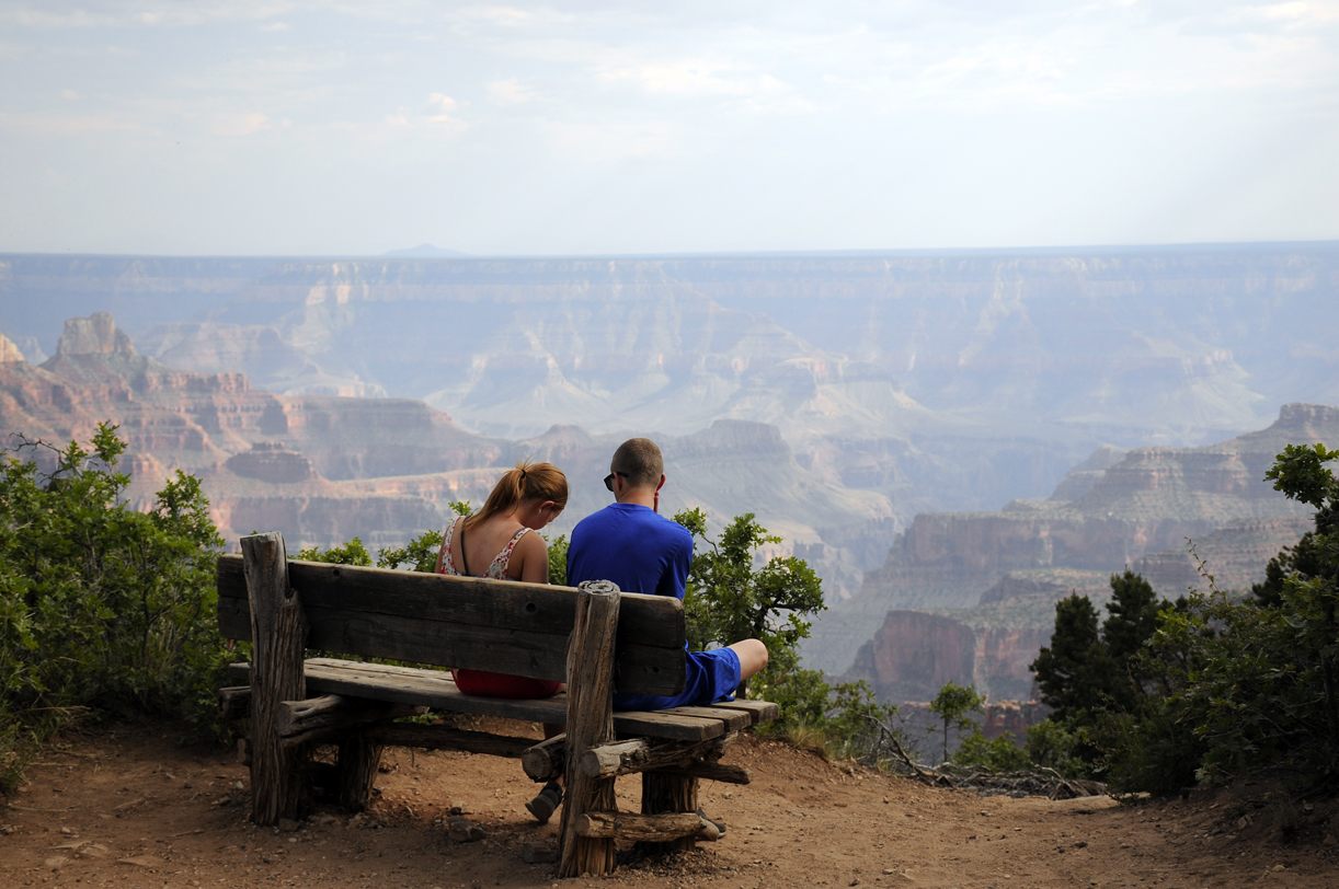 Romantisk på kanten av Grand Canyon i Arizona, USA. Foto: Per Henriksen