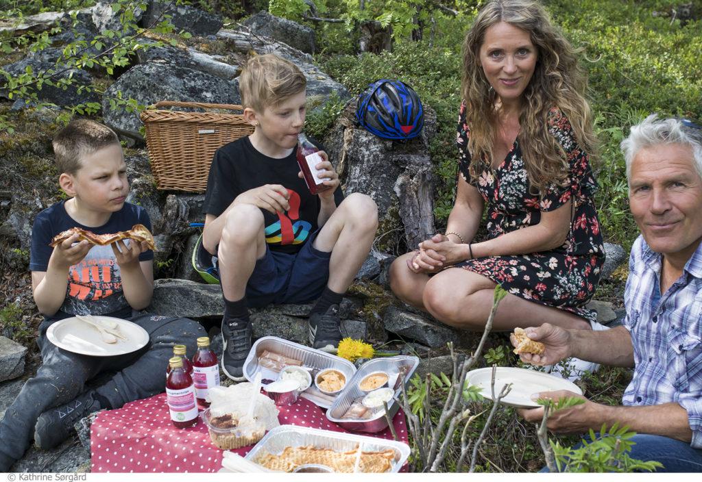 Norgesferie med barna